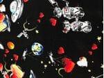 Шелк в стиле дольче габбана космос
