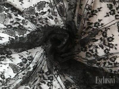 Кружево черное гипюр