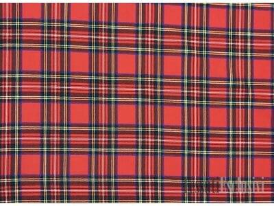 Шерсть шотландка красная в стиле барбери