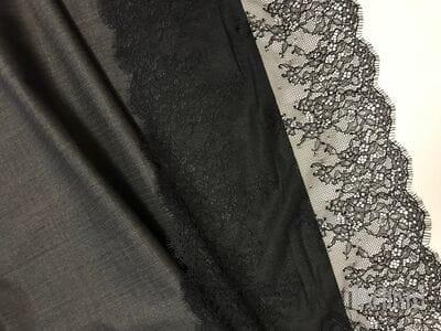 Шерсть костюмная тонкая темно-серая с коричневыми  прожилками