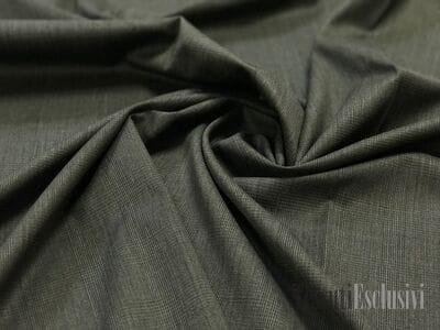 Шерсть костюмная тонкая темно-серая в клетку