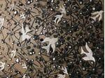Кружево черное с птицами