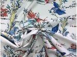 Вискоза сорочечная с принтом природа