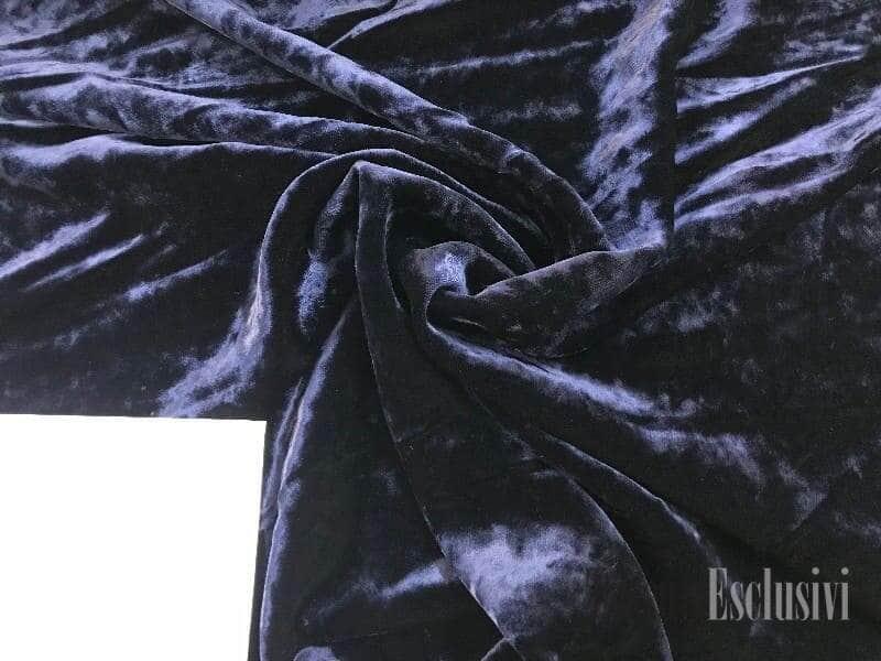 Бархат на шелке чернильный