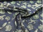 Жаккард морской цвет джинсы