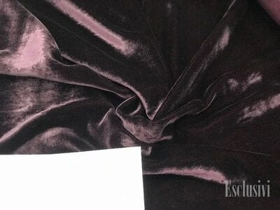 Бархат на шелке фиолетовый