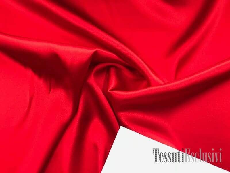 Шелк однотонный атласный красный
