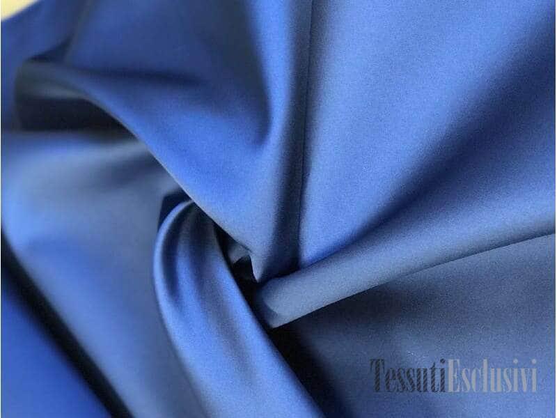 Шелк двусторонний синий