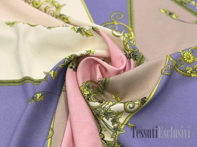 Шёлк  вискозный Versace розовый