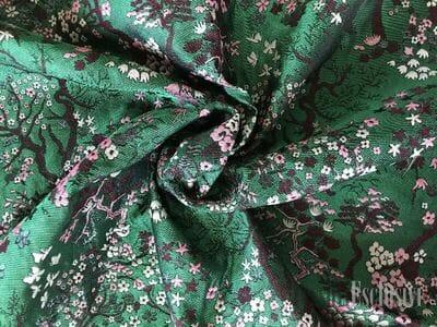 Жаккард зеленый (сакура)