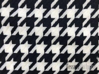 Пальтовая шерсть гусиная лапка черно-белая