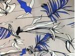Шелк с крупными цветами