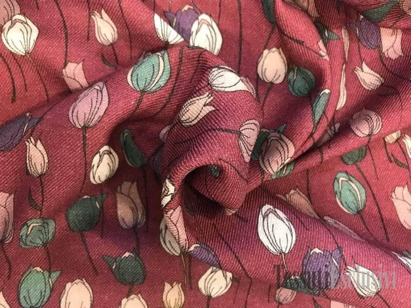 Шерсть плательная тюльпаны