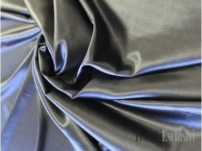 Шелк однотонный атласный серый