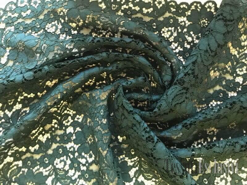 Кружево кордовое изумрудное