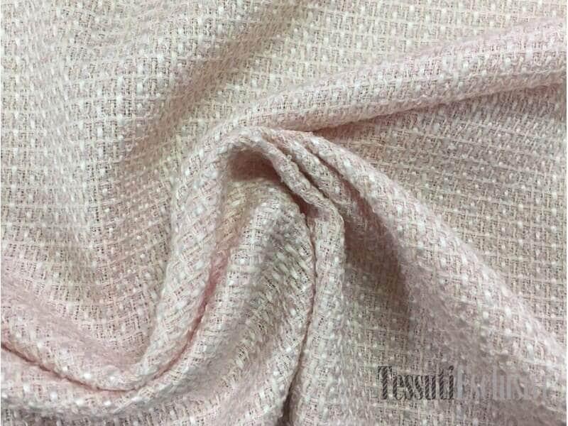 Твид   в стиле Шанель нежно-розовый