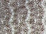 Сетка  пудровая с вышивкой жемчугом волны