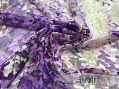 Шелк-шифон фиолетовый