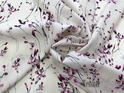 Шелк розовый с мелкими цветочками