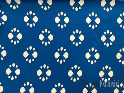 Шелк синий с узором в стиле Fendi