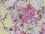 Шелк-креп цветы на  желтом