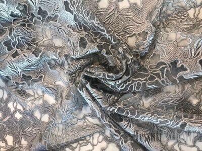 Кружево кордовое серое на сетке