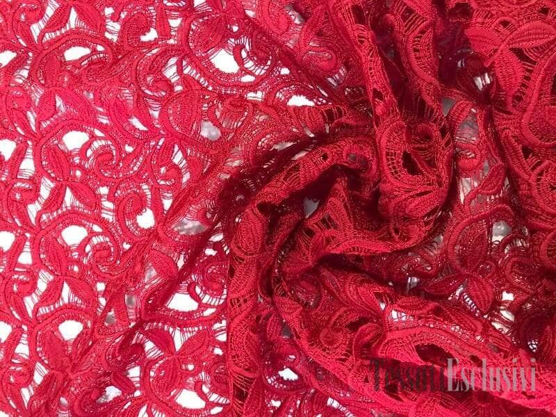 Кружево красное в стиле Ermano Scervino